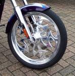 Sculptured Motorcycle Wheel.JPG